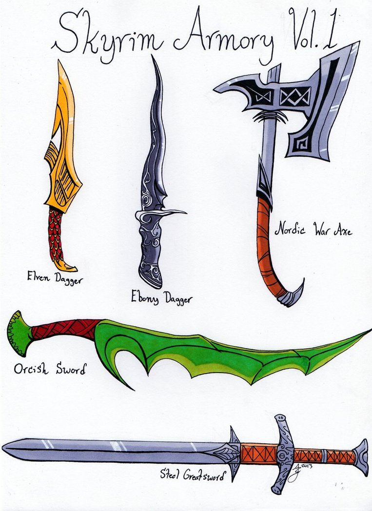 Drawn weapon skyrim Skyrim #1 Weapons Weapons Cache
