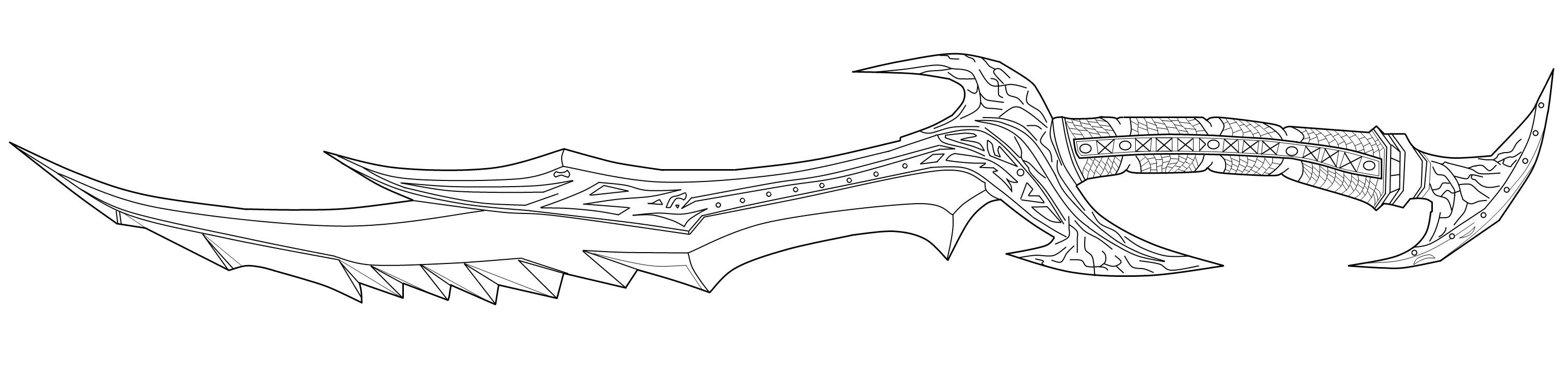 Drawn weapon skyrim On linearts Skyrim DeviantArt sword