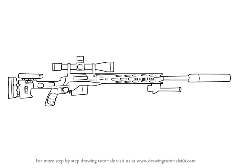 Drawn weapon sniper rifle Enhanced Sniper Rifle to a
