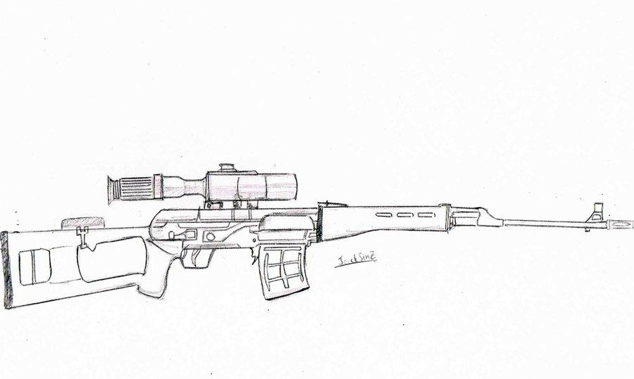Drawn weapon sniper rifle Rifle rifle by JackSinz JackSinz
