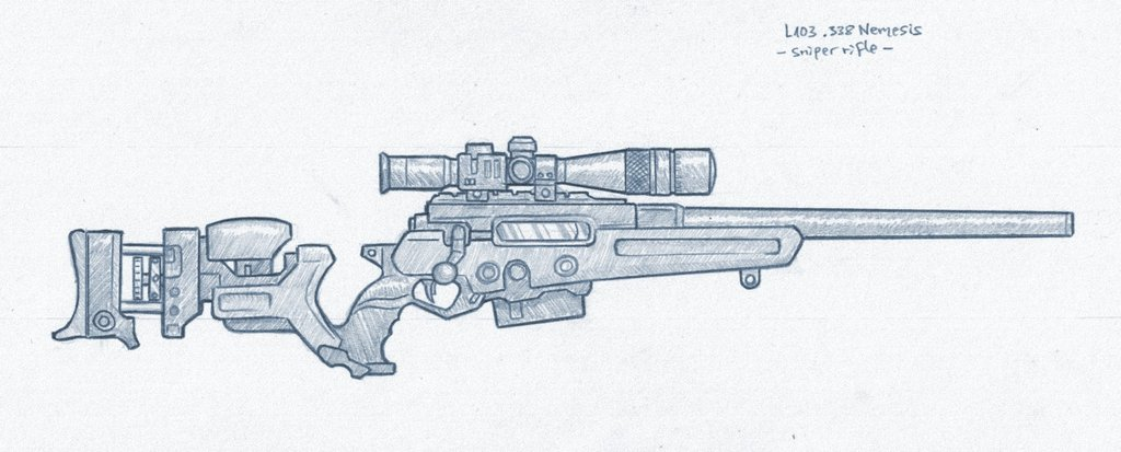 Drawn weapon sniper rifle By biometal79 sniper for CONTACT