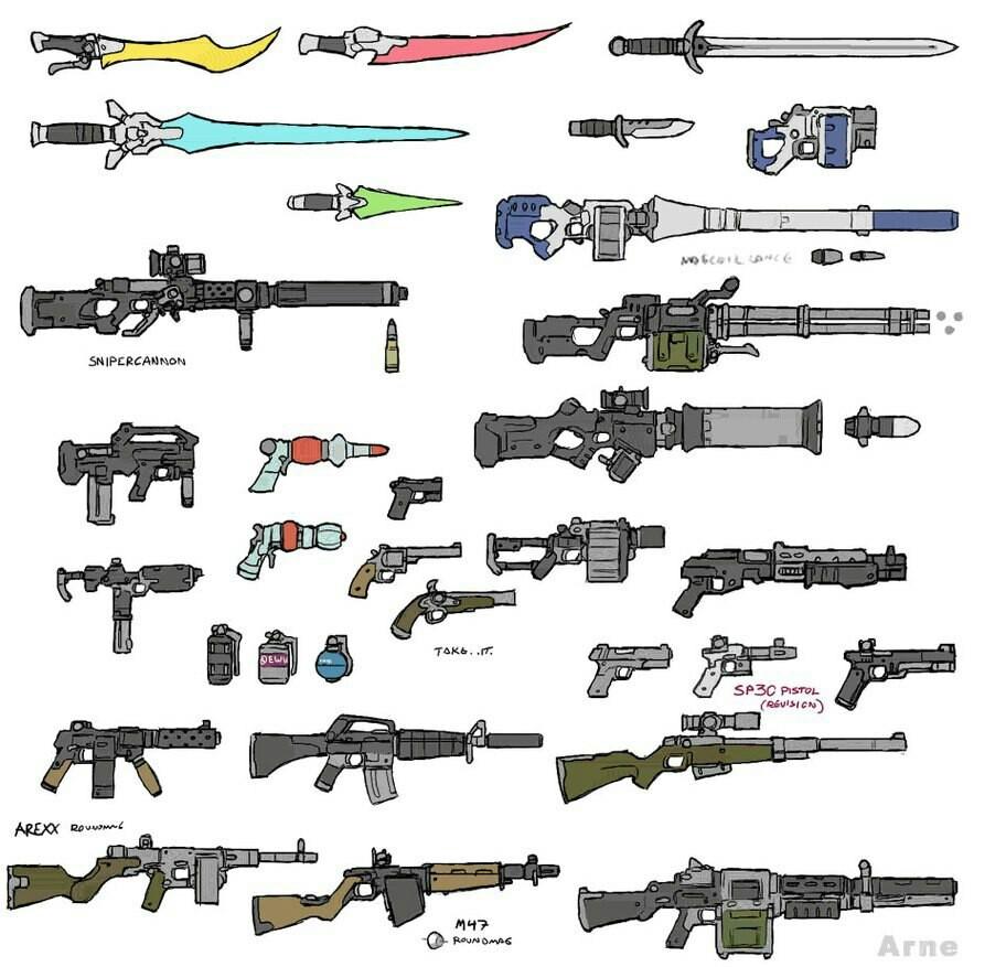 Drawn gun sprite sheet Drawings to how tutorial