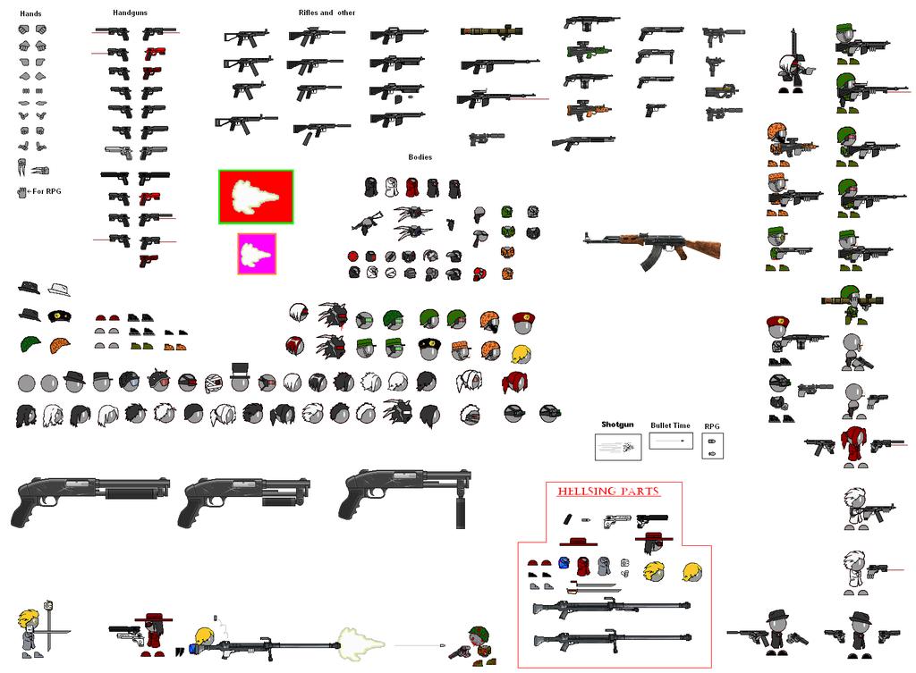 Drawn gun sprite sheet Thing by Sheet deviantART