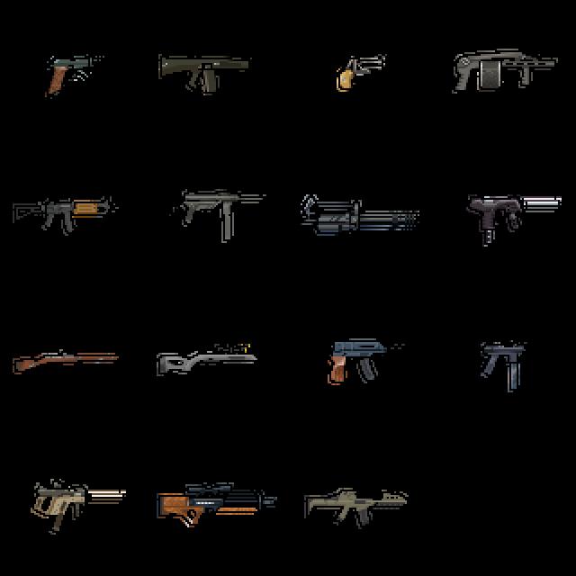 Drawn gun sprite sheet Day 9 Alpha / gun