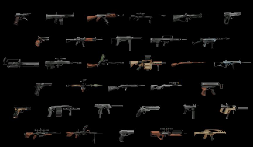 Drawn gun sprite sheet BlackPanzerDragon A13 Rimfire 1 rimworld