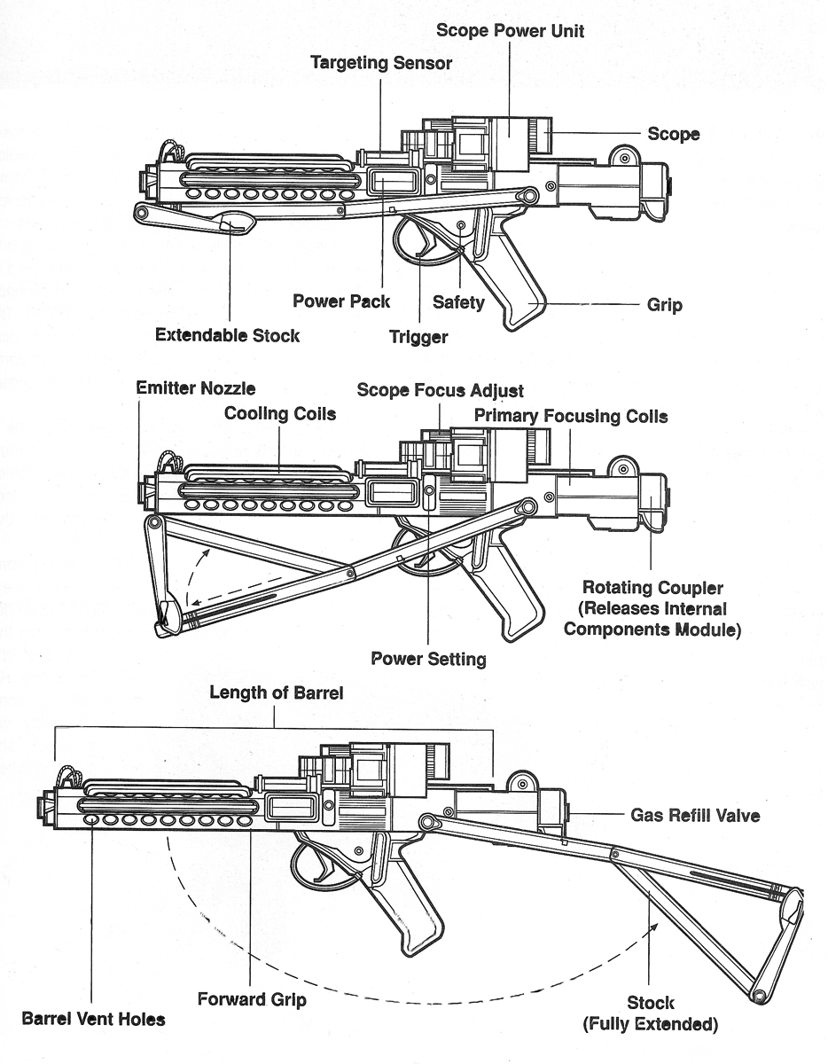 Drawn star wars blaster Wars the blaster rifle 11