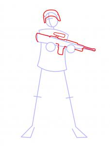 Drawn weapon strong Soldiers How People Draw by