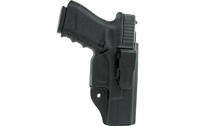 Drawn weapon strong A IWB one hip cross