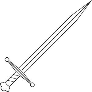 Knife clipart medieval Sword weapon Designers: Decal
