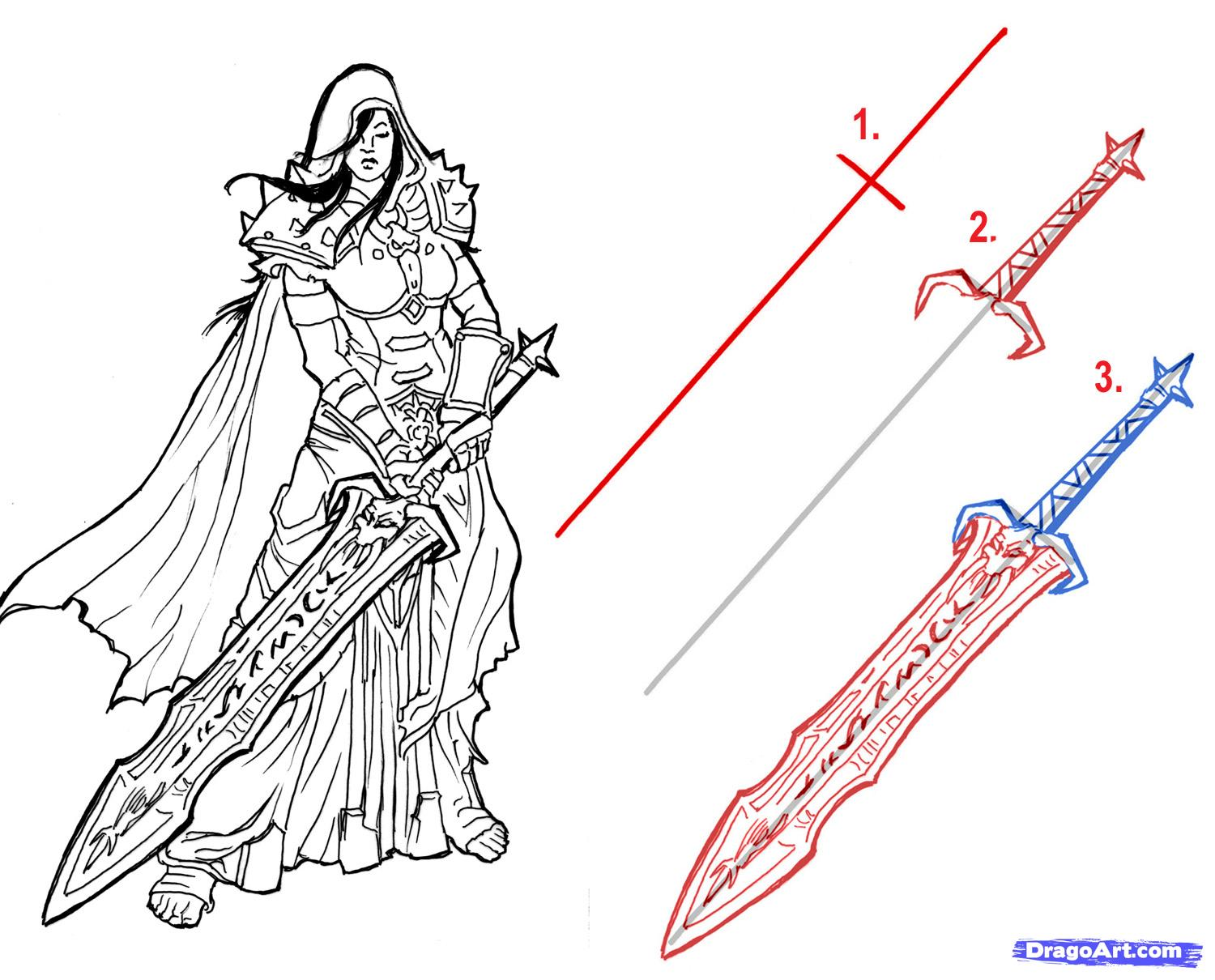 Drawn weapon sword Added 6:56:43 Swords How Step