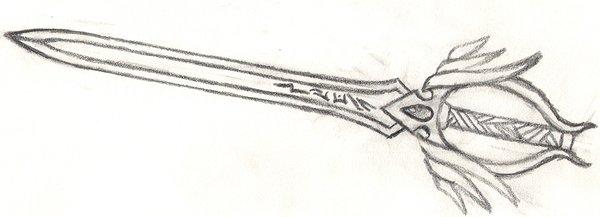 Drawn weapon sword