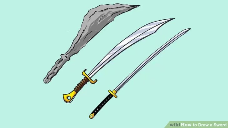 Drawn weapon sword WikiHow titled Pictures) Sword to
