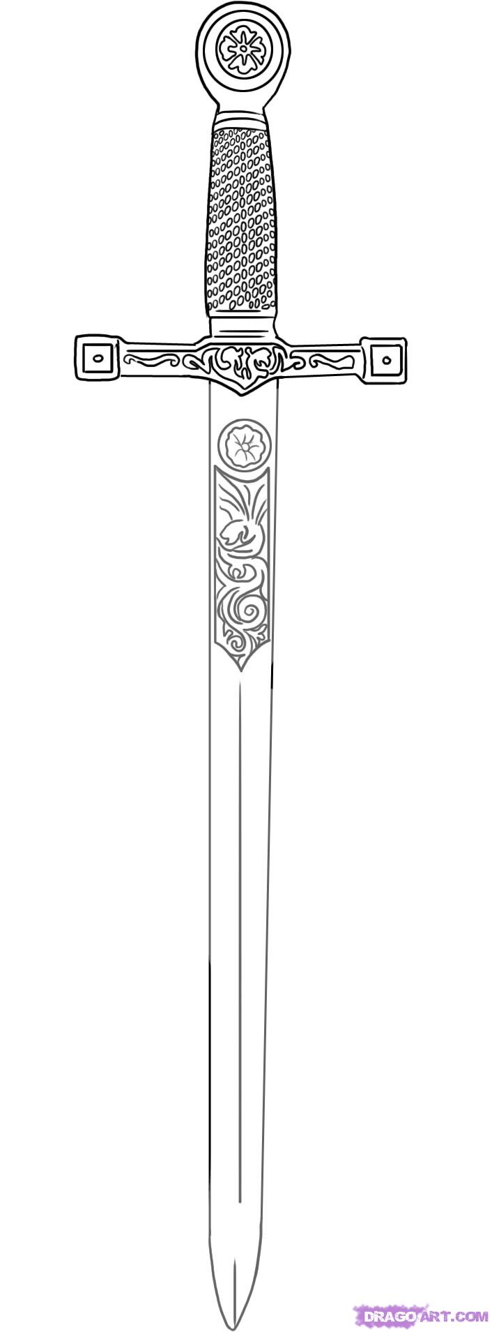 Drawn weapon sword 65 about Pinterest on weapons
