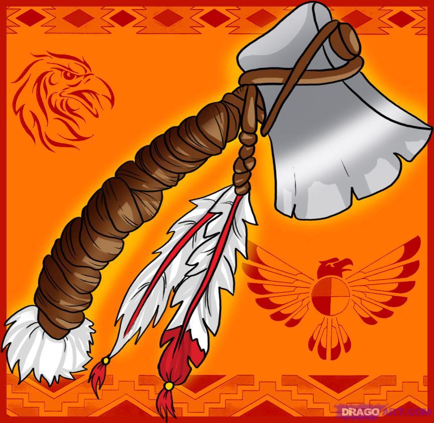 Drawn weapon tomahawk By Spears draw Step Step