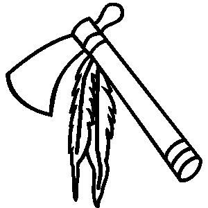 Drawn weapon tomahawk 90B7 lineart 491C 20870988A53E 08608A4E