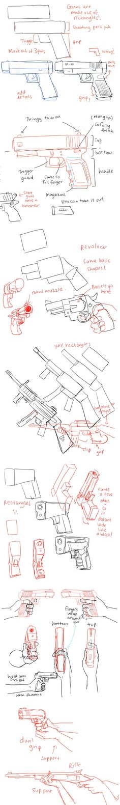 Drawn weapon too human Draw guns Picks References Tutorials