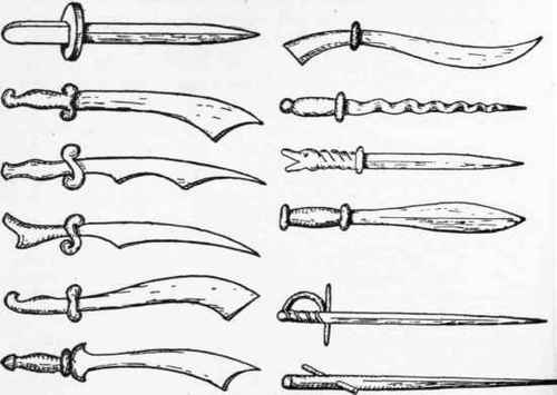 Drawn weapon toy sword Knives  Few Daggers And