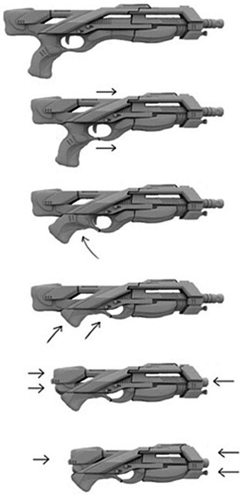 Drawn shotgun weapon Effect Mass sequence Katana shotgun