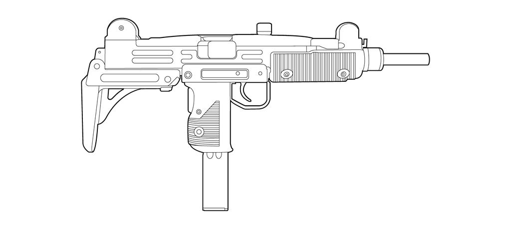 Drawn weapon uzi Drawings Uzi Drawings Uzi Re