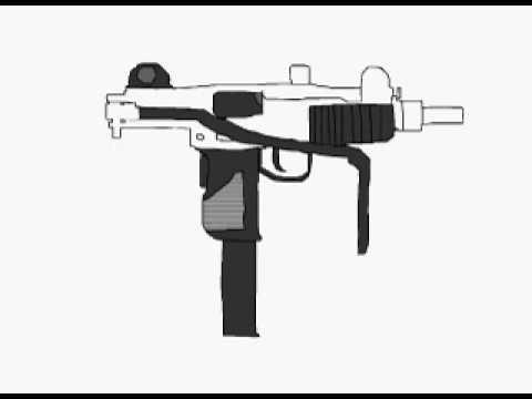 Drawn weapon uzi YouTube a draw How