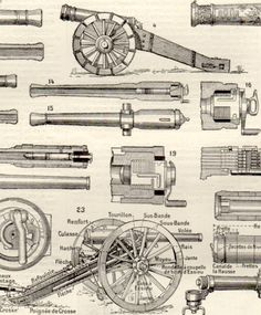 Drawn weapon victorian era Cannon War 1887 Weapons Weapons