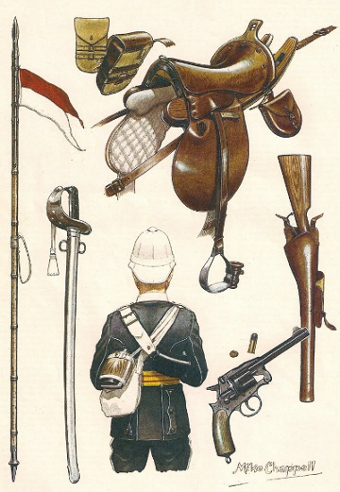 Drawn weapon victorian era 17th the Hussars 1870s of