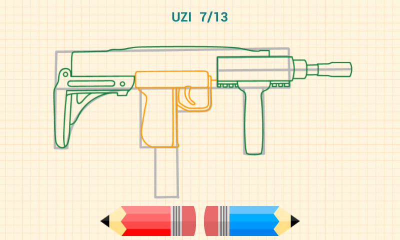 Drawn weapon wepon Draw How screenshot to Android