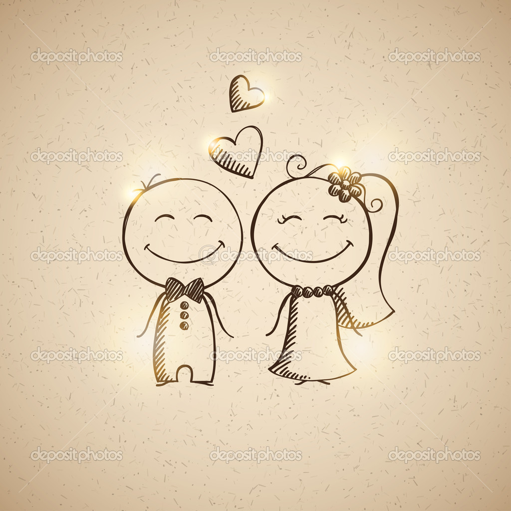 Drawn wedding Drawing drawn couple couple wedding
