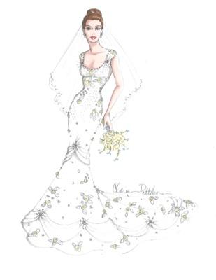 Drawn wedding dress dress style #12