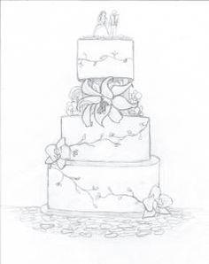 Drawn wedding cake #3
