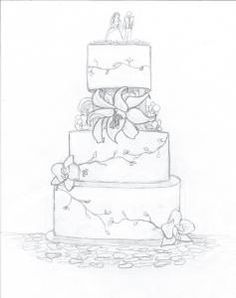 Drawn wedding cake Wedding Casablanca Wedding the Sketches