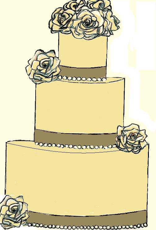 Drawn wedding cake #7