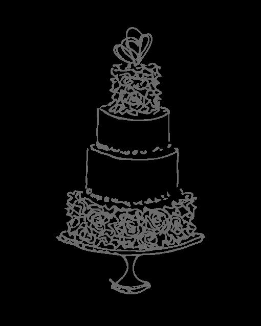 Drawn wedding cake Wedding Portland Joconde of NW