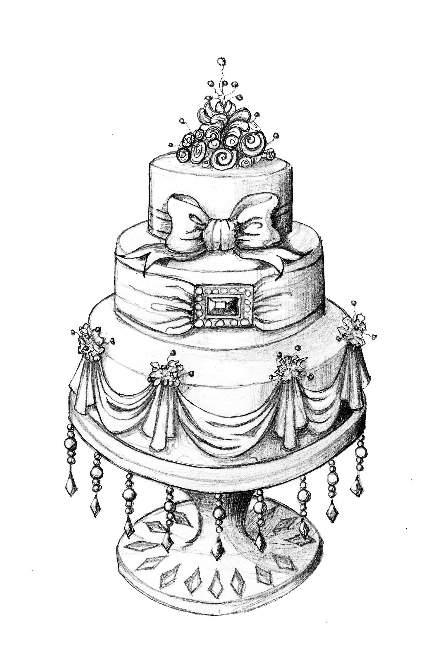 Drawn wedding cake Royal Cake Kid Fantasy Yard