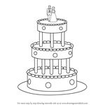 Drawn wedding cake Learn to Step Cake