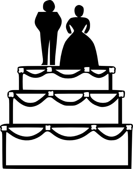 Cake clipart line art Svg vector office clip Free