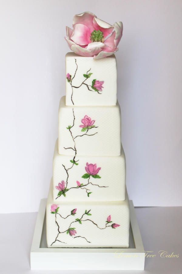 Drawn wedding cake colorful flower On Find more Pin about