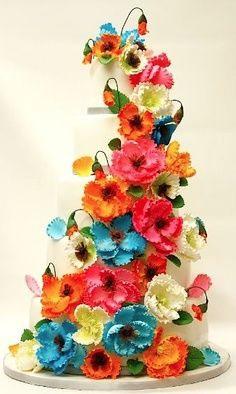Drawn wedding cake colorful flower Eye cake! floral Pinterest wedding