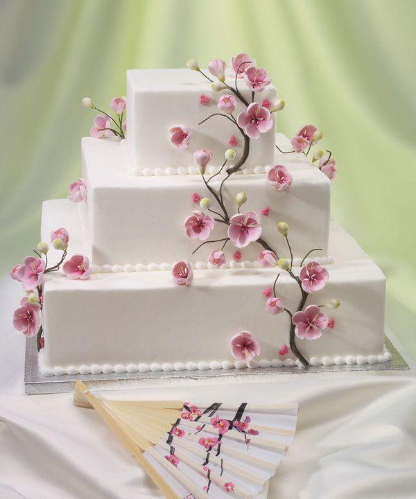 Drawn wedding cake colorful flower Cherry Best wedding Pinterest cake