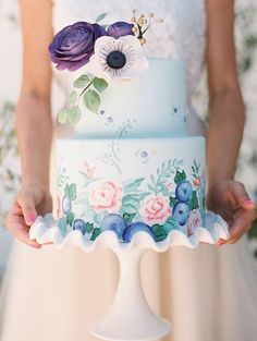 Drawn wedding cake colorful flower Painted 25 for Wedding using