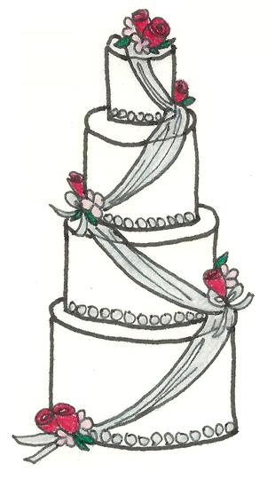 Drawn wedding cake hand drawn Wedding Custom Mara by Invitations