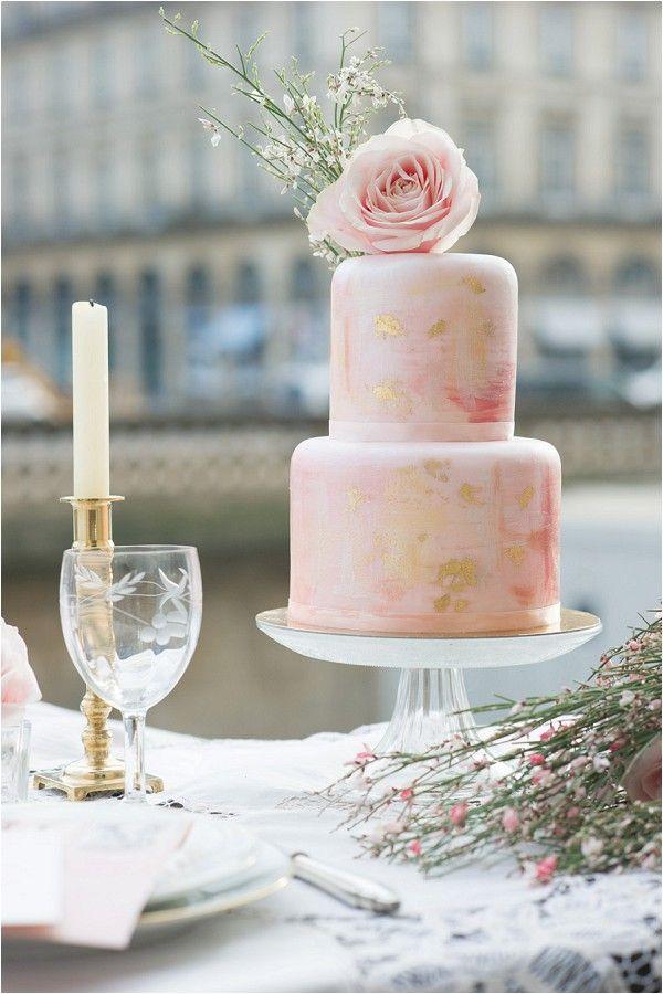 Drawn wedding cake just Paris CakePink in Love 4612