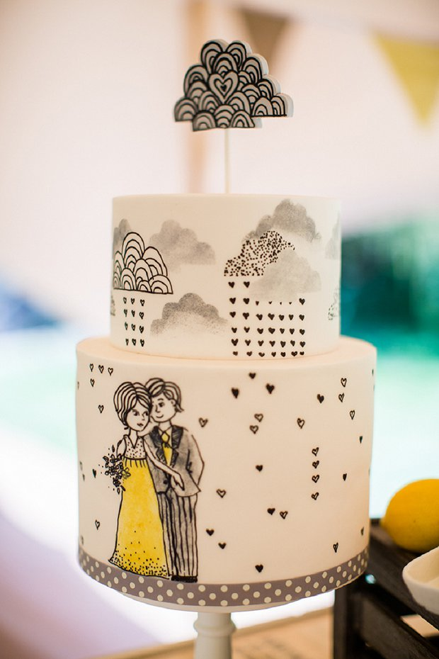 Drawn wedding cake just Cakes Hand Wedding Painted Painted