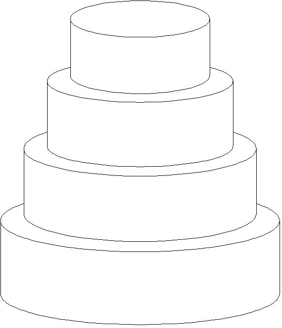 Wedding Cake clipart outline Cakes  by designs alicia_froedge