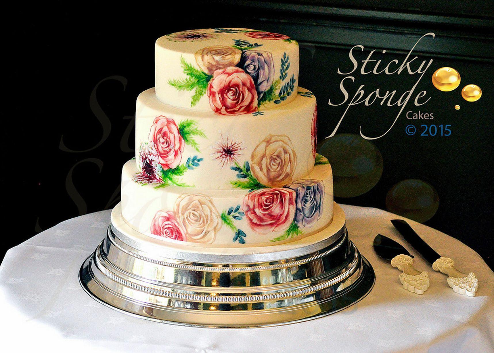 Drawn wedding cake Of Sponge & Graeme