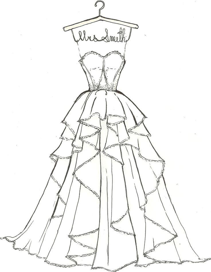 Drawn wedding dress really #2