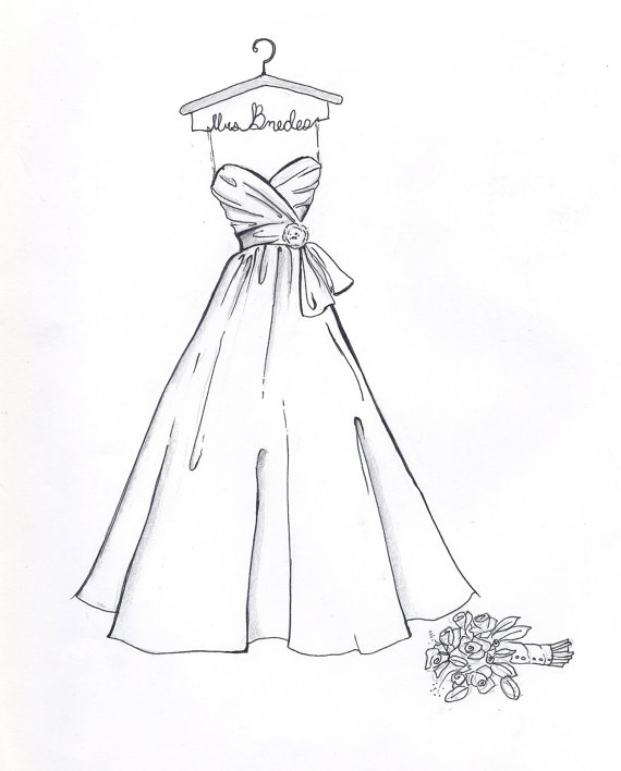 Drawn wedding dress #8