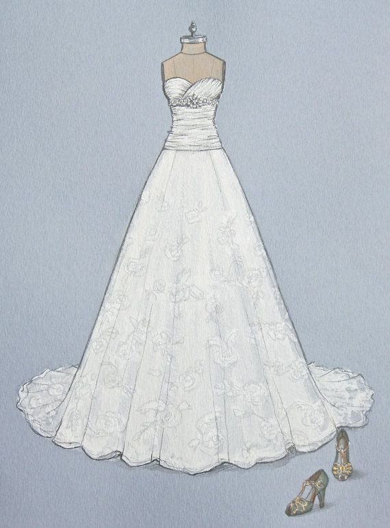 Drawn wedding dress #15