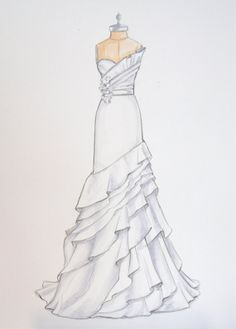 Drawn wedding dress #12