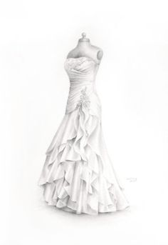 Drawn wedding dress #14